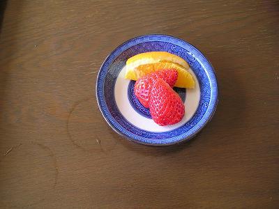 白魚(しろうお)料理 フルーツ