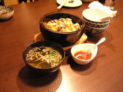 焼肉小田部 宴会セットA ビビンバ スープ