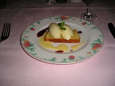 Qビーフのコース(2625円)料理