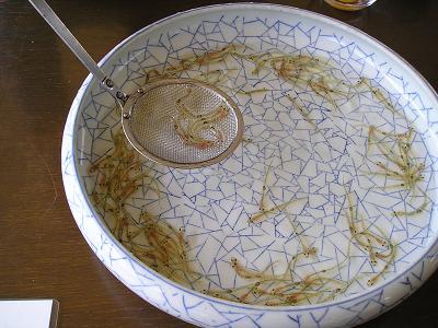 白魚(しろうお)料理 おどり食い