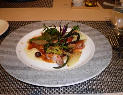 パステル Pastel カンヌコースの本日のメイン豚肉のロースト